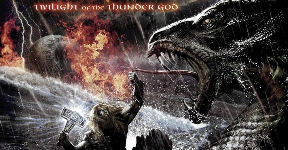 L'illustrazione sulla copertina di Twilight of the Thunder God