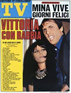 La copertina di TV Sorrisi e Canzoni che annuncia la vittoria del Festival di Sanremo 1970 di Adriano Celentano e Claudia Mori