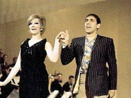 Celentano assieme a Mina alla fine degli anni '60