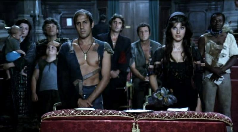Una scena di Yuppi Du, un classico della cinematografia di Adriano Celentano