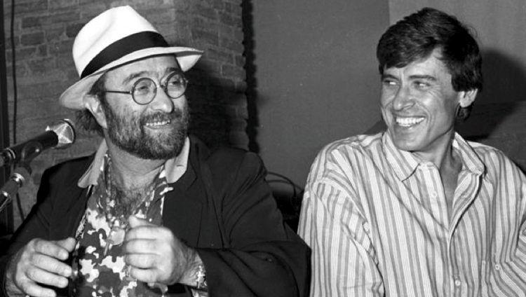 Lucio Dalla e Gianni Morandi negli anni '80