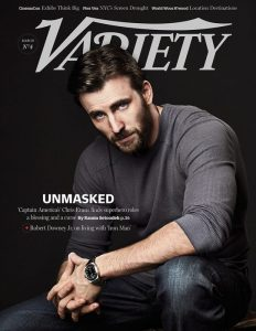 Chris Evans sulla copertina di Variety