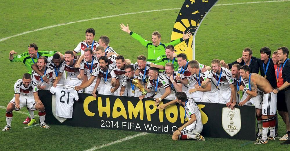 La Germania campione del mondo in Brasile nel 2014 (foto di Danilo Borges via Wikimedia Commons)