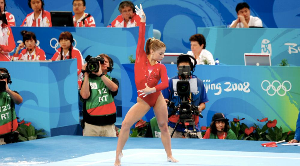 Shawn Johnson a Pechino (foto di bryangeek via Flickr)