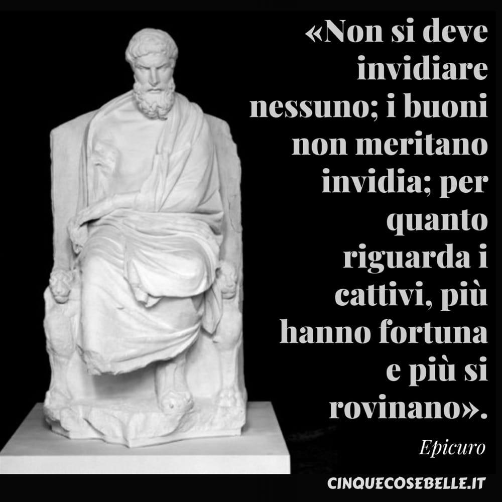 La citazione di Epicuro sull'invidia