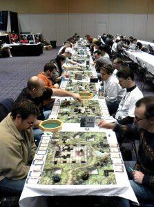 Giocatori impegnati durante un torneo (foto di Benny Mazur via Flickr)