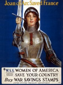 Giovanna d'Arco su un manifesto americano del 1918 volto a raccogliere fondi per la guerra