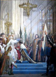 L'incoronazione di Carlo VII sotto la luce divina invocata da Giovanna d'Arco