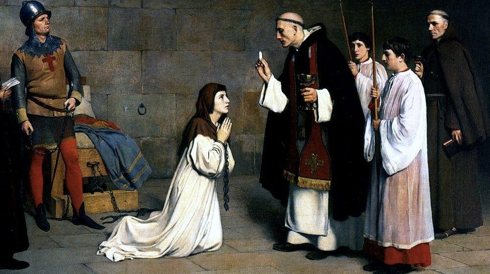 L'ultima comunione di Giovanna d'Arco, in un dipinto del 1899 di Charles-Henri Michel
