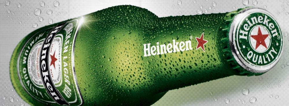 La bottiglia Heineken, con la stella rossa