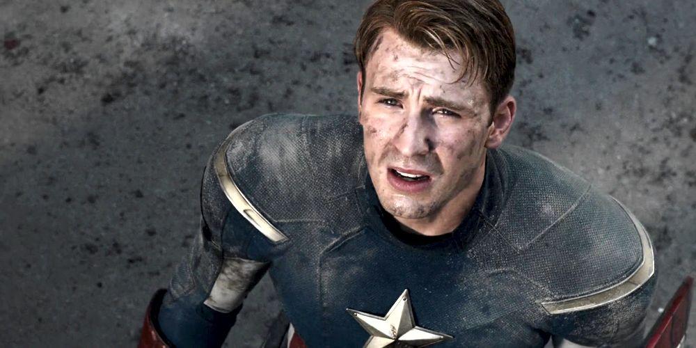 Chris Evans nel costume di Capitan America