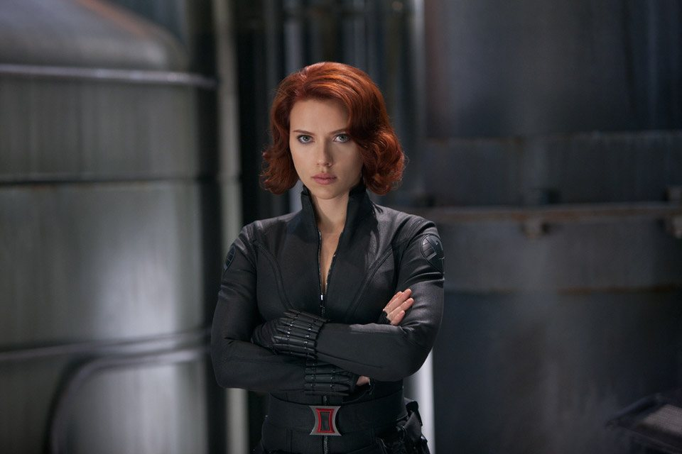 Scarlett Johansson nei panni della Vedova Nera