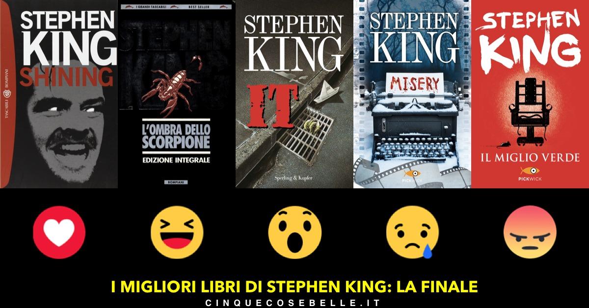 La finale per decidere l'ordine dei cinque libri di Stephen King più belli