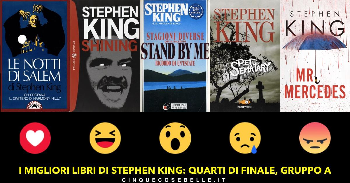 Quali sono i migliori libri di Stephen King? Ecco il sondaggio, a partire dal gruppo A