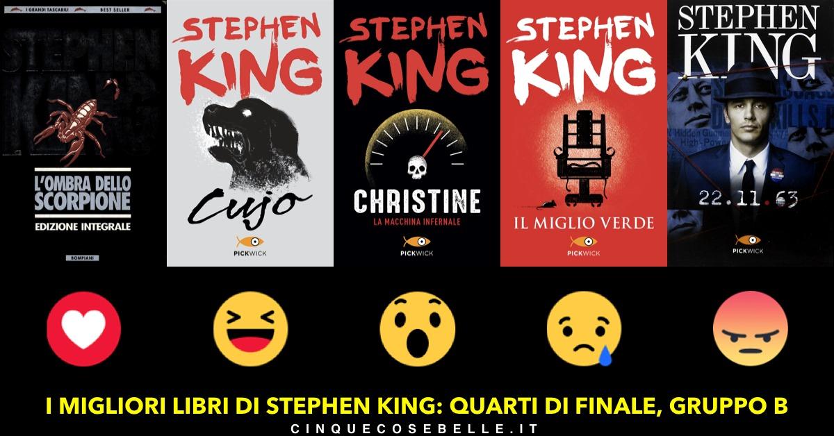 Il gruppo B del sondaggio sui romanzi di Stephen King