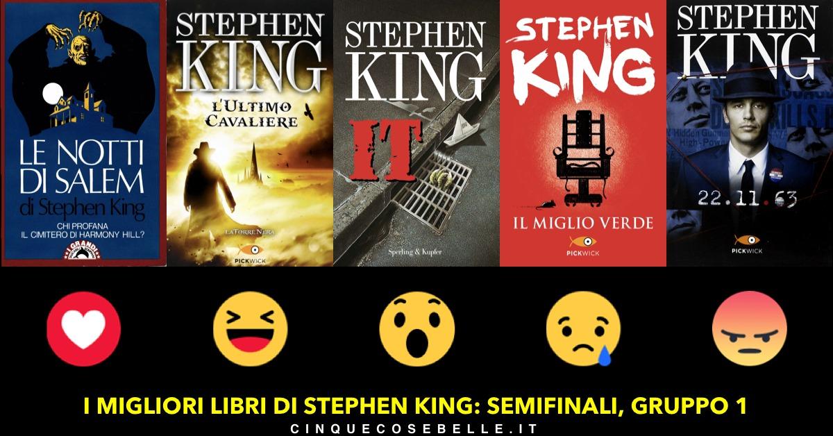 Le semifinali del sondaggio sui libri di Stephen King: il gruppo 1