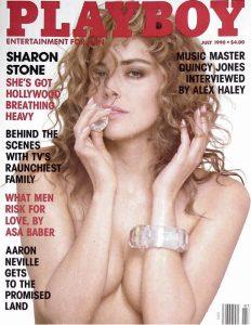 La prima copertina di Playboy dedicata a Sharon Stone