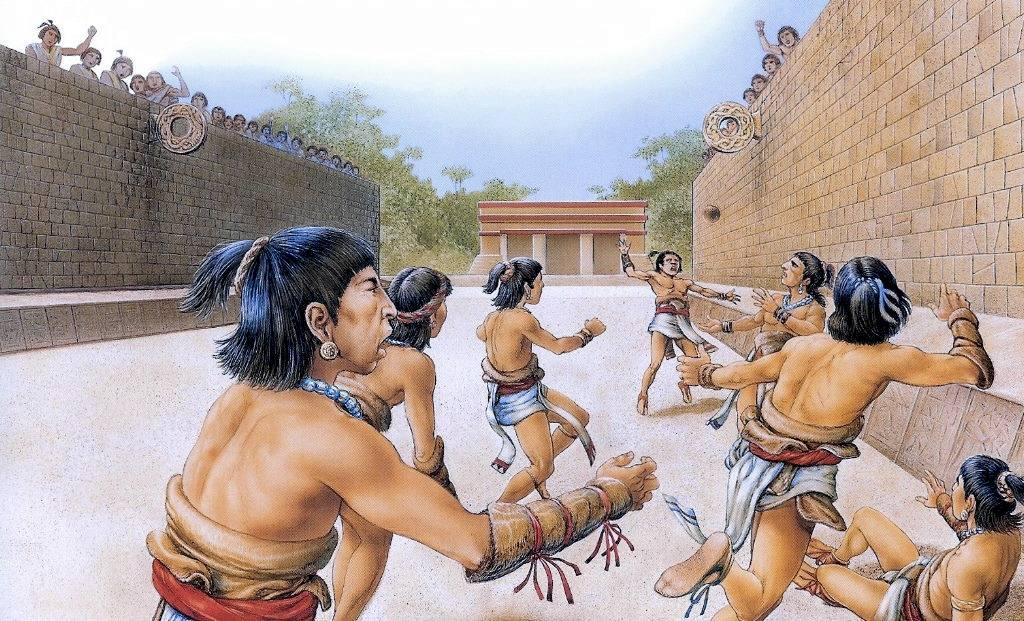 Il gioco del tlachtli praticato dagli aztechi