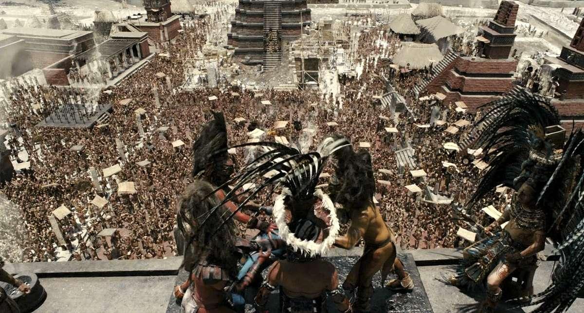 Un sacrificio umano rappresentato nel film Apocalypto, di Mel Gibson