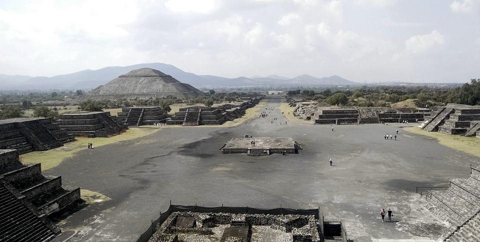 La struttura di Teotihuacan, capitale di una delle più importanti civiltà precolombiane