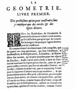 La geometria, importante trattato di Cartesio