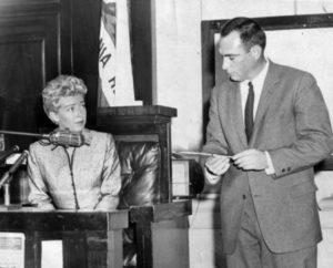 Lana Turner durante il processo alla figlia