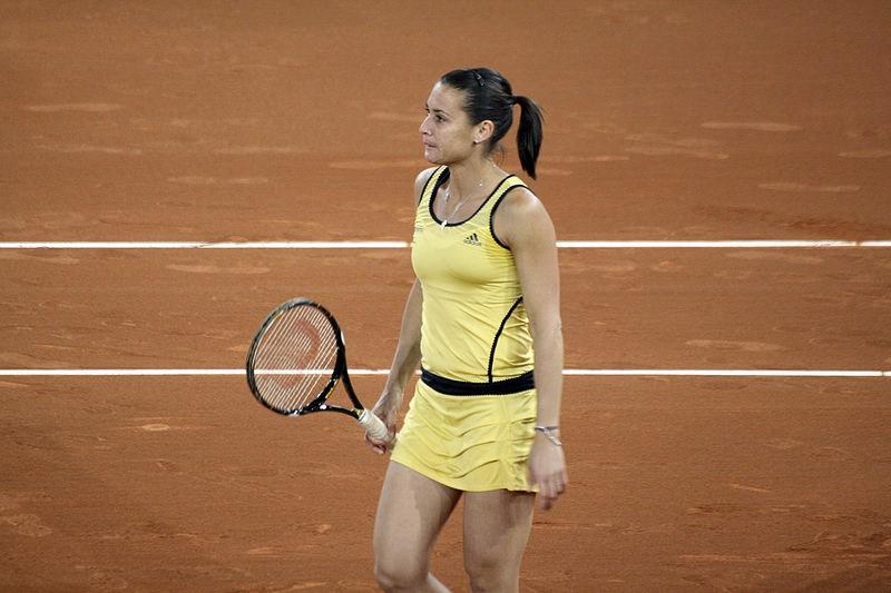 Flavia Pennetta, una delle più grandi tenniste italiane di ogni epoca, nel 2010 (foto di Cdpache via Wikimedia Commons)