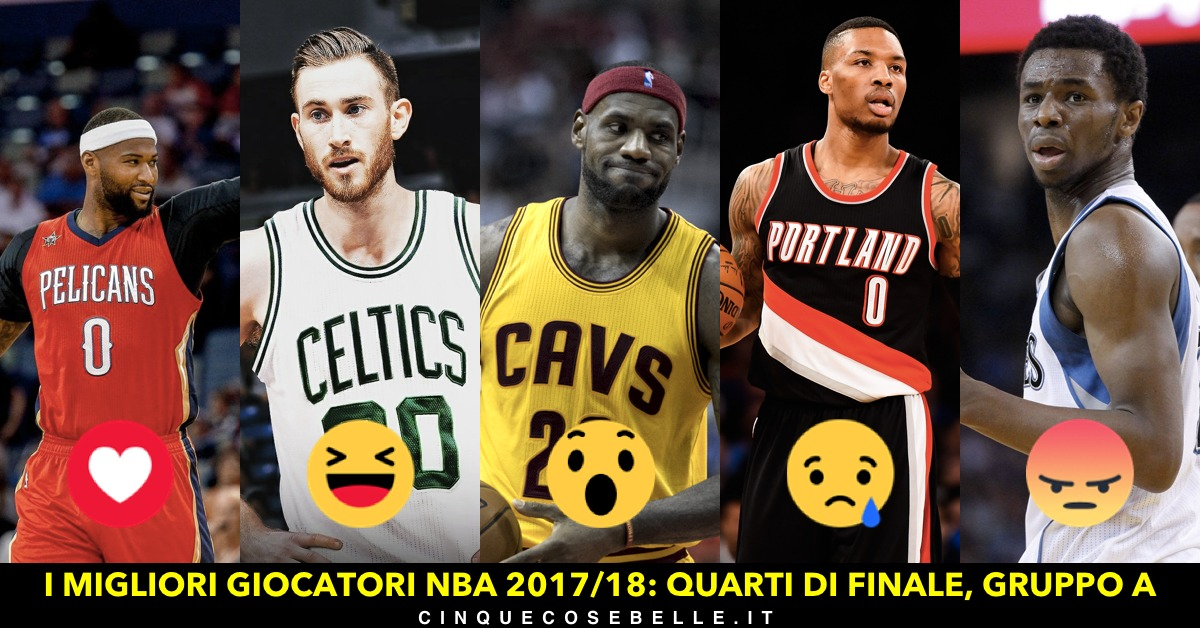 Il primo gruppo dei quarti di finale sui migliori giocatori NBA
