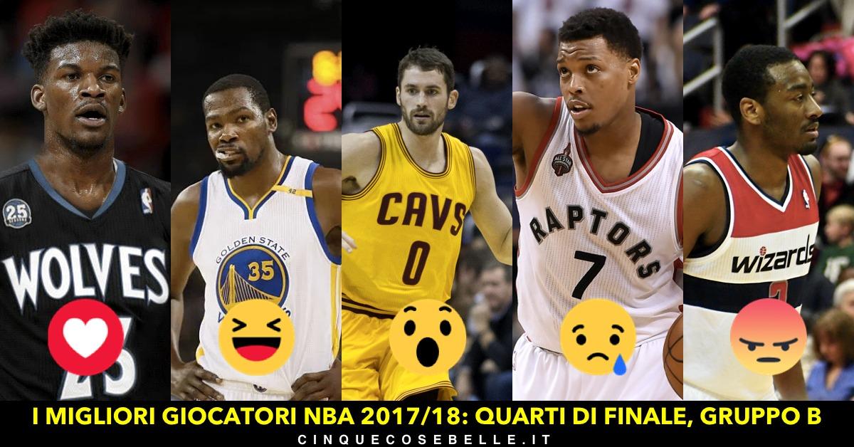 Il gruppo B dei quarti di finale sui migliori giocatori NBA