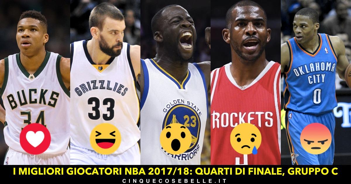 Il gruppo C dei quarti di finale sui migliori giocatori NBA