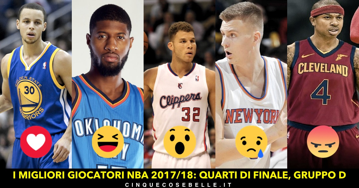 Il gruppo D dei quarti di finale sui migliori giocatori NBA