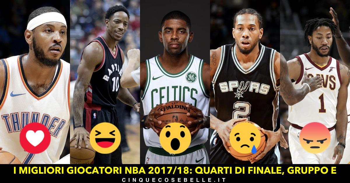 Il gruppo E dei quarti di finale sui migliori giocatori NBA