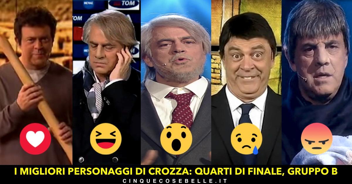 Il gruppo B del sondaggio su Maurizio Crozza e le sue imitazioni