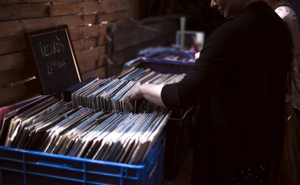 I dischi in vinile, così tipici negli anni '70