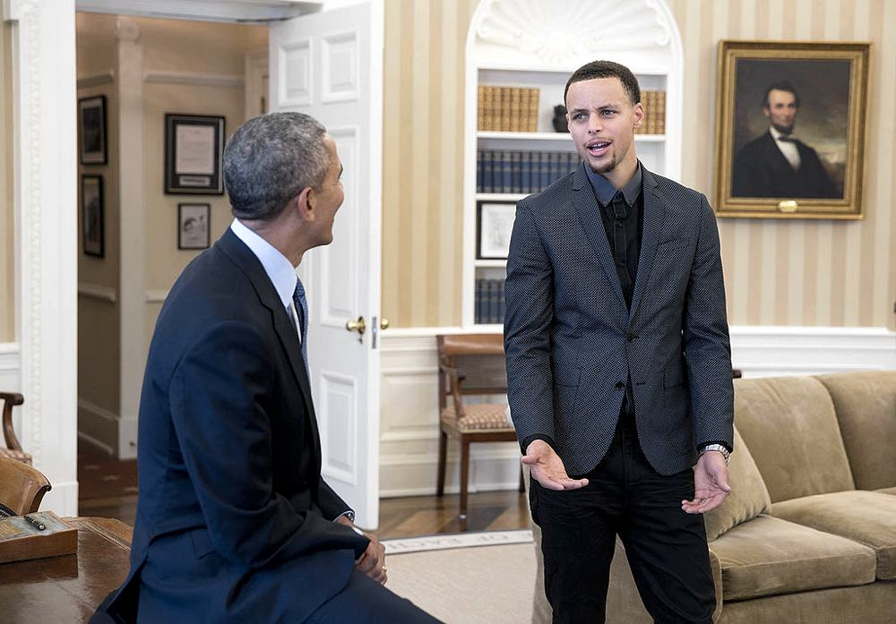 Curry a colloquio con Obama nel 2015