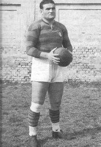 Mario Battaglini, uno dei più grandi giocatori di rugby italiani, nel 1952