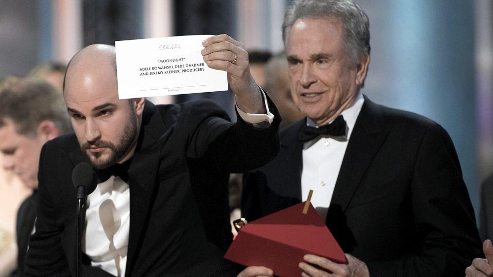 L'errore alla cerimonia degli Oscar del 2017, in cui fu annunciato che La La Land aveva vinto il premio per il miglior film quando il vincitore era Moonlight