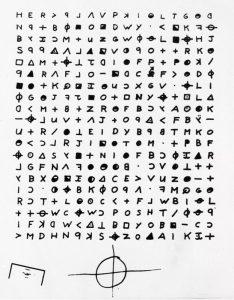 Uno dei messaggi in codice del killer dello Zodiaco