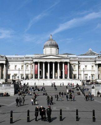 La National Gallery di Londra, uno dei più importanti musei di Londra (foto di Morio via Wikimedia Commons)