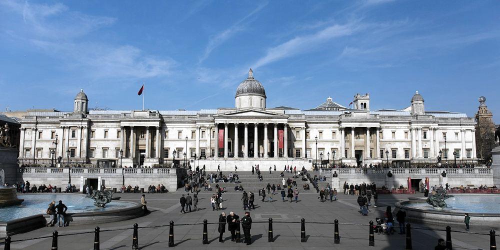 La National Gallery di Londra (foto di Morio via Wikimedia Commons)
