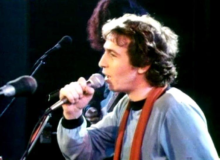 Rino Gaetano durante la tournée con Riccardo Cocciante