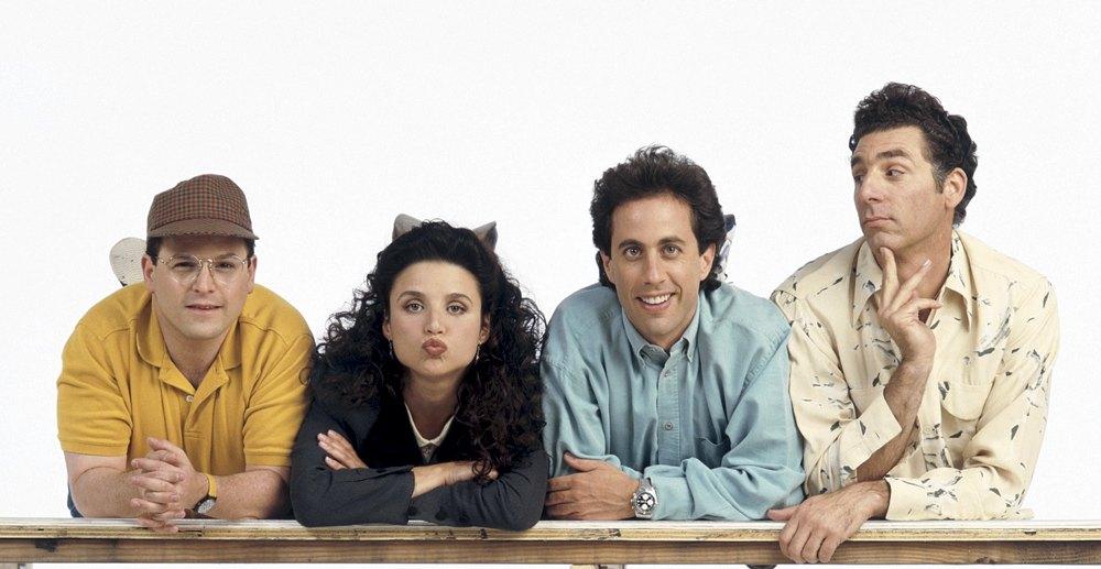 I protagonisti di Seinfeld, una delle migliori serie americane degli anni '90