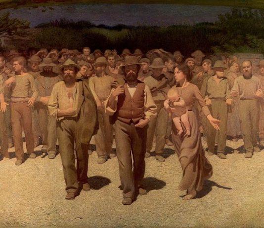 Il quarto stato di Pellizza da Volpedo, quadro-simbolo di socialismo e comunismo italiani