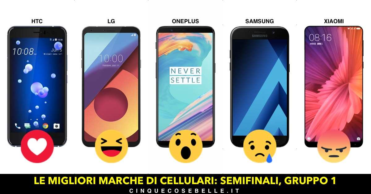 Qual è la miglior marca di cellulari? La semifinale