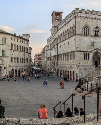 Piazza IV Novembre a Perugia