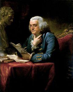 Ritratto di Benjamin Franklin ad opera di David Martin