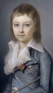 Luigi Carlo ritratto a 7 anni d'età, nel 1792