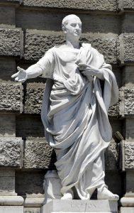 Statua di Cicerone davanti alla Corte di Cassazione a Roma, opera di Ubaldo Pizzichelli