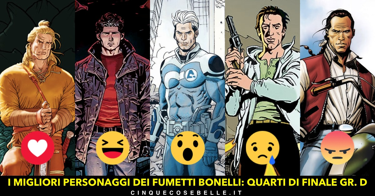 Il gruppo D dei quarti di finale sul miglior personaggio Bonelli