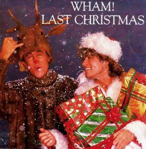Gli Wham! sulla copertina di Last Christmas